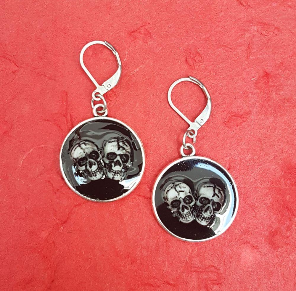 Skull Resin Earrings
