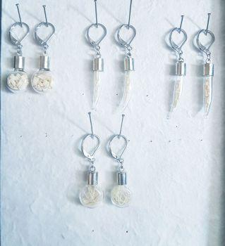 Bone Vial Earrings