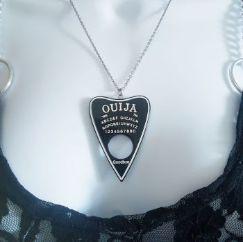 Black Ouija Planchette Pendant Necklace