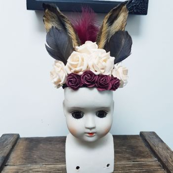 Antique Bisque Doll Head Hare Ears