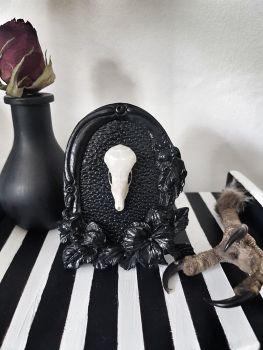 Mole Skull in Heavy Ornate Pewter Frame