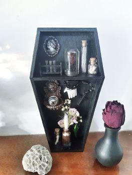 Curio Coffin Shelf