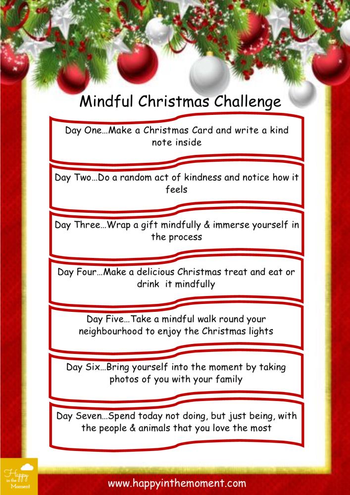 Mindful Christmas Challenge poster