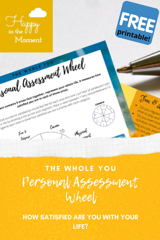 Personal Assessment Wheel pin