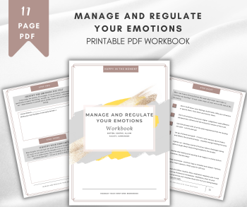 Manage and Regulate Your Emotions PDF and Workbook Course