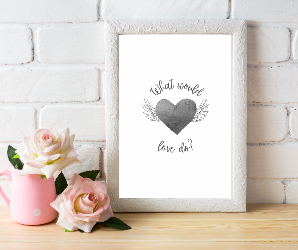 What would love do | Typographic Print | A4 Printable