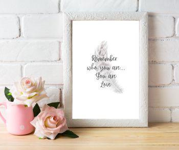 Remember Who You Are Angel Quote Print | Typography Print | A4 Printable