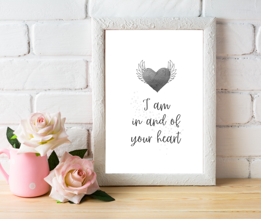 I Am In And Of Your Heart Print | Typographic Print | A4 Printable
