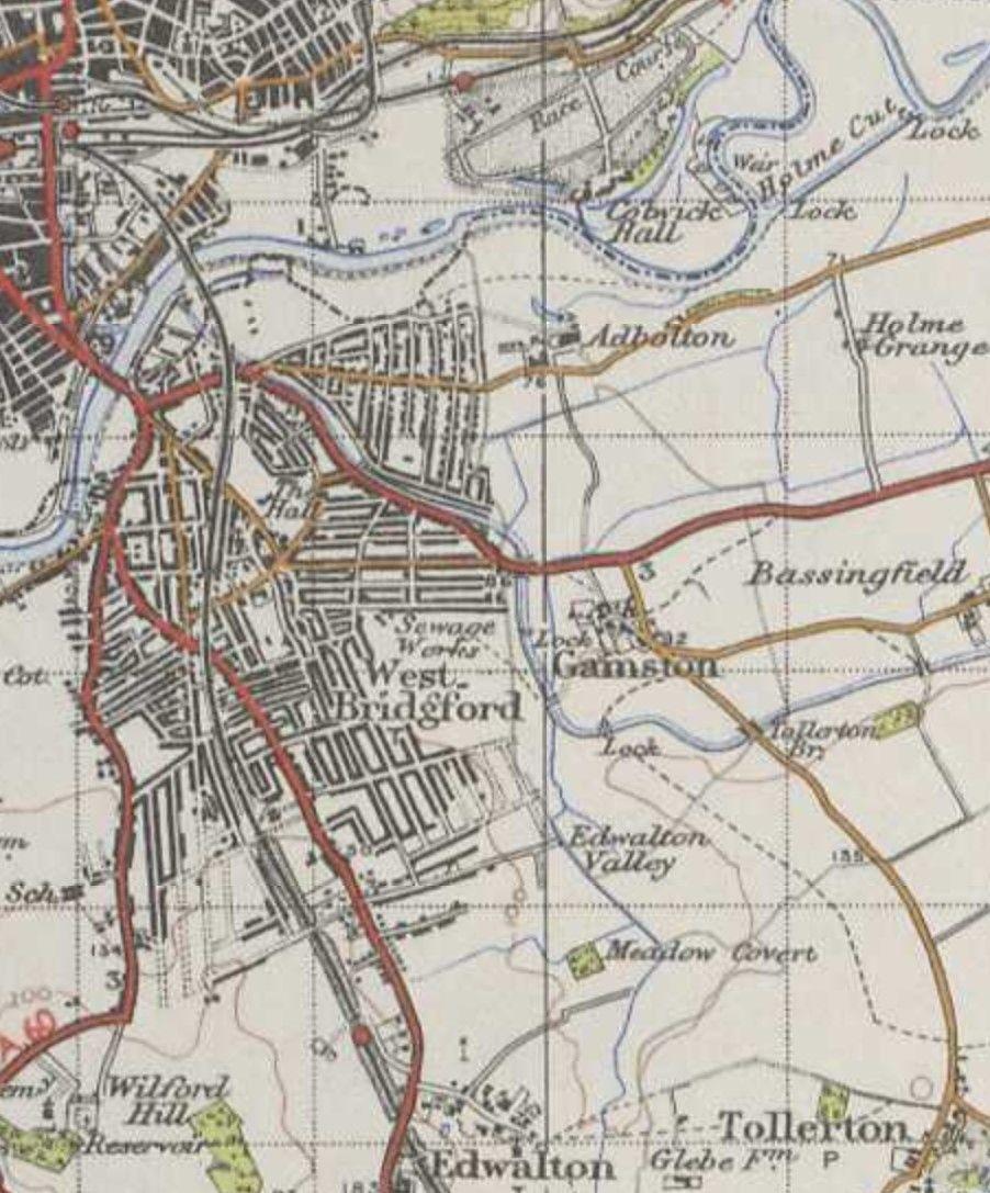 Lady Bay Ordnance Survey map 1945