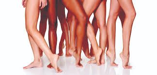 group of womens legs