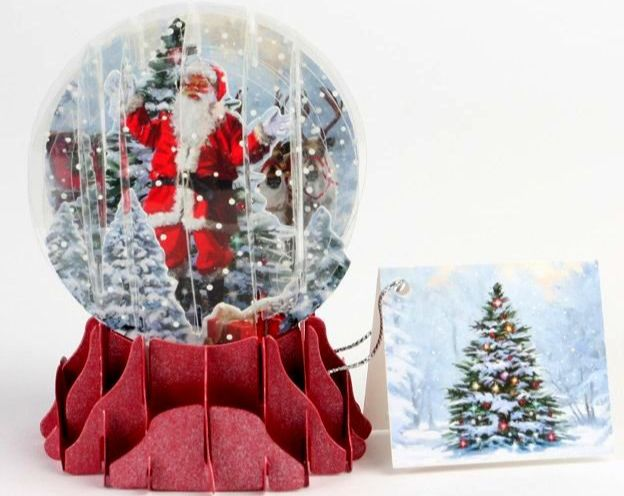 Jolly Santa Pop Up 3D Snowglobe Card