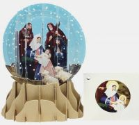 Nativity Pop Up 3D Snowglobe Card
