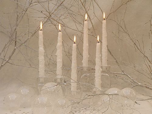 Frosted Taper Candle