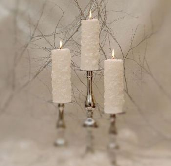 Medium Frosted Pillar Candle