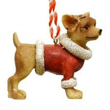 Gisela Graham adorable Santa Paws Dog decorations with their festive Hat or