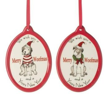 Heaven sends Merry Woofmas Ceramic Hanging Decoration.