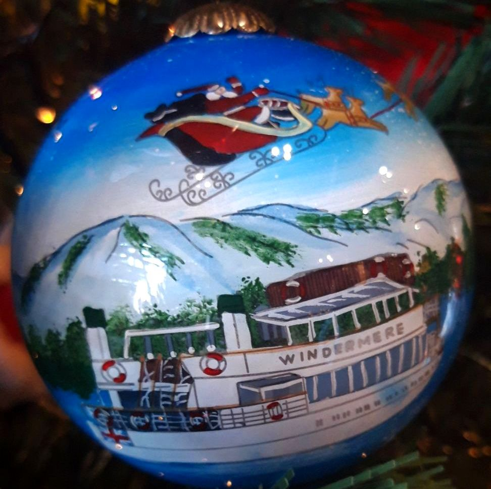 Lake Windermere Glass Bauble