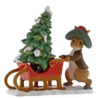 Benjamin Bunny Preparing for Christmas figurine.