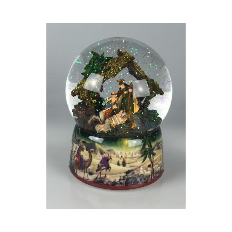 Nativity Glitter Globe