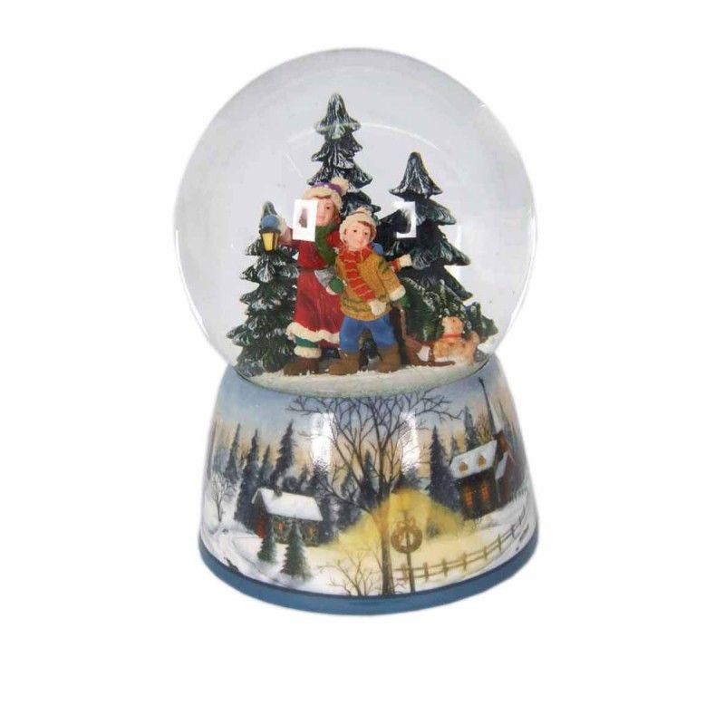 Children in the Winter Woodland Snowglobe