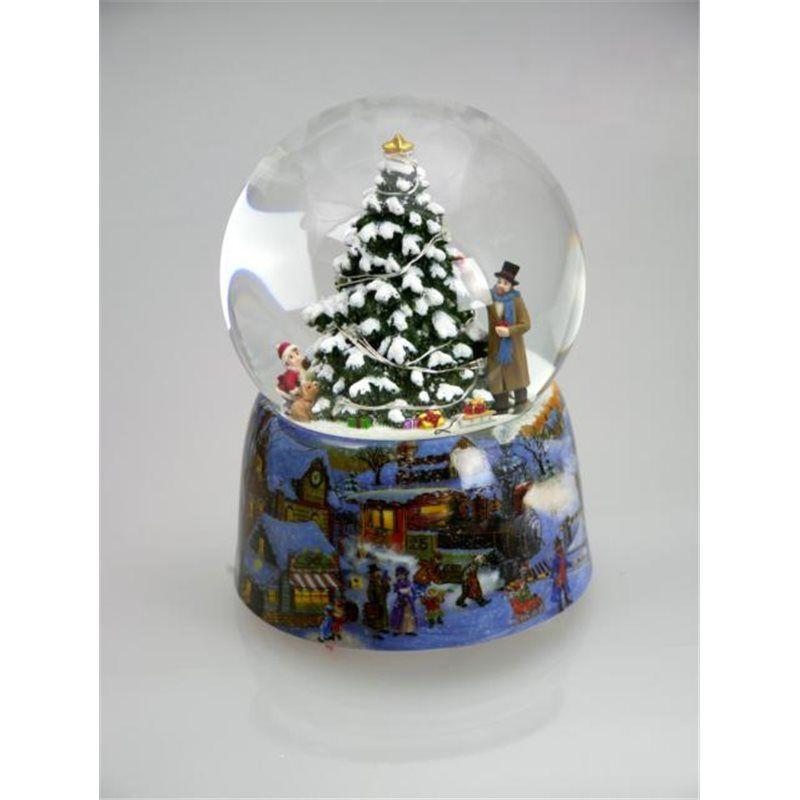 Snowglobe with illuminate Christmas Tree