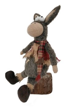 Fun Googly Eyed sitting Donkey - 53cm