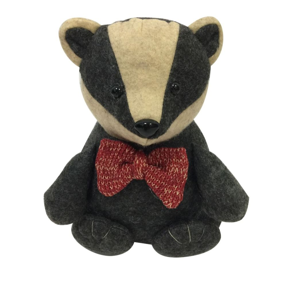 Badger Doorstop with Bow Tie