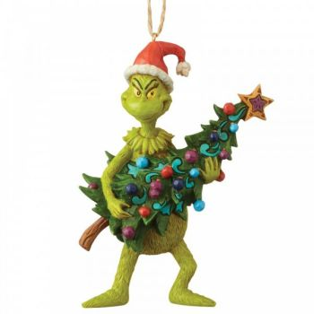 The Grinch Holding Christmas Tree - Hanging Ornament