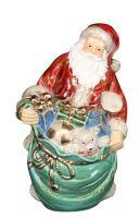 Glazed Ceramic Santa - 24cm x 15cm x 13cm