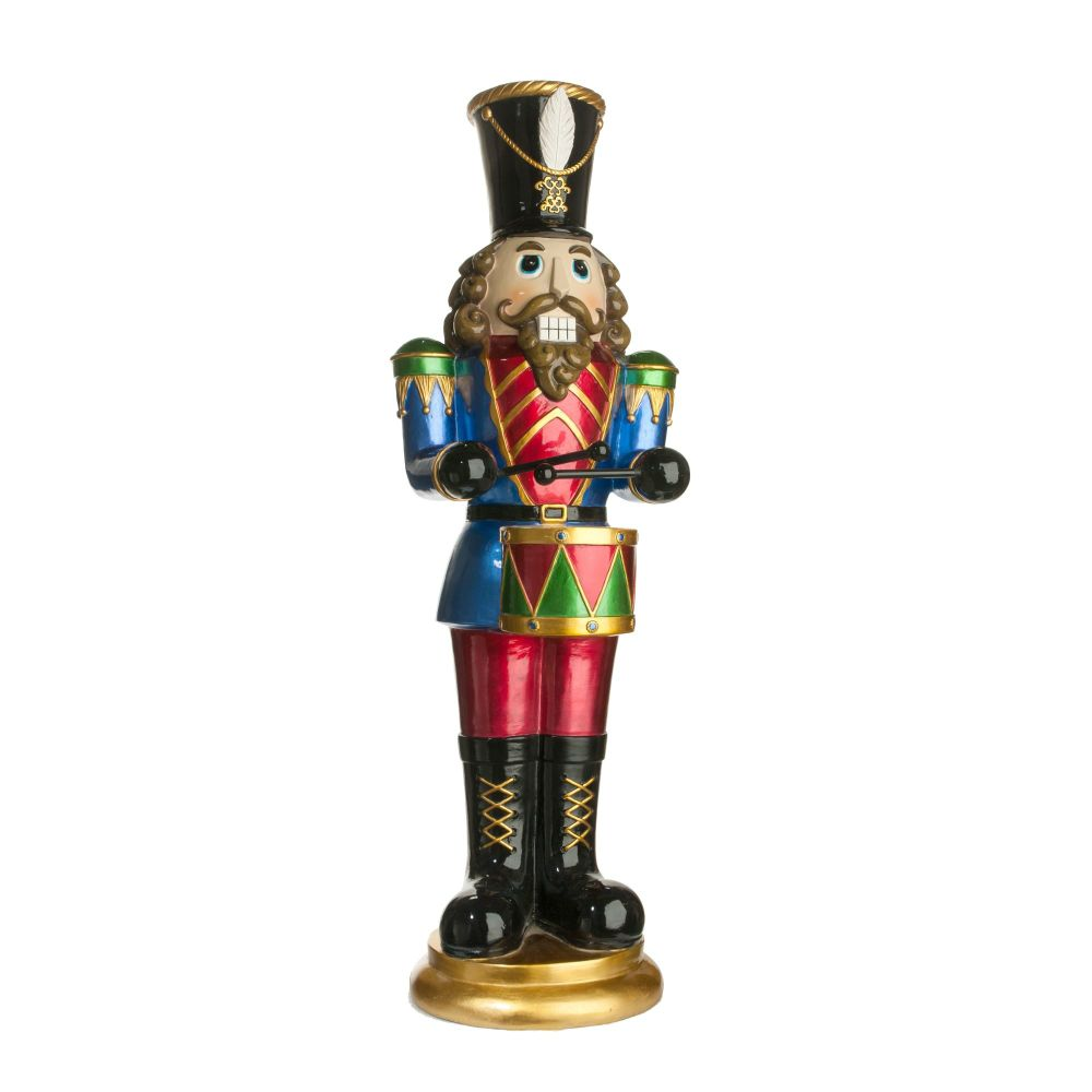 Gorgeous Large Nutcracker Soldier playing Drums - 86cm tall