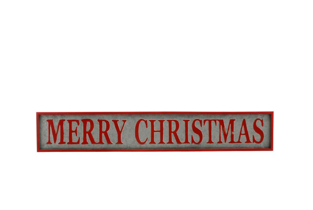 Large Metal Merry Christmas hanging sign