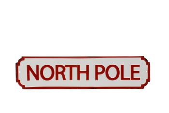 Large Metal North Pole hanging sign