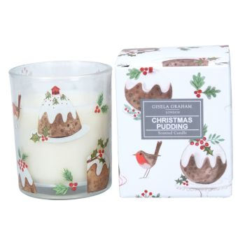 Beautifully Scented Christmas Pudding Candle - 7.5cm tall x 5.5cm diameter