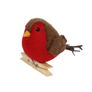 A wonderful peg on Robin Red Breast tree decoration - 8cm tall x 7cm wide x 11cm long