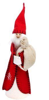 Delightful Felt Santa - 27cm tall x 9cm wide