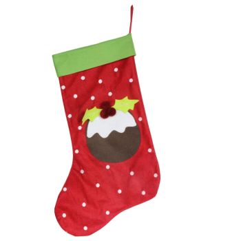 Large Christmas Pudding Stocking - 67cm x 40cm