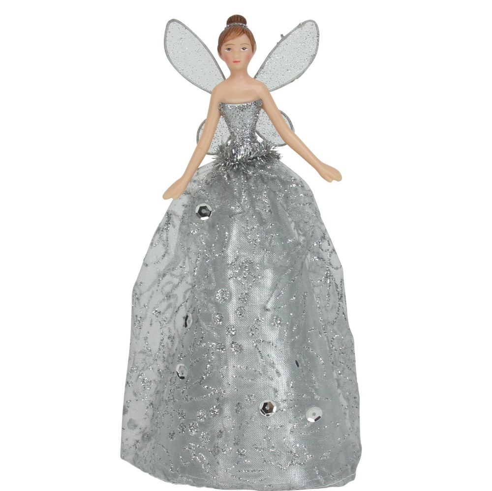 Silver Tree Top Fairy - 18cm