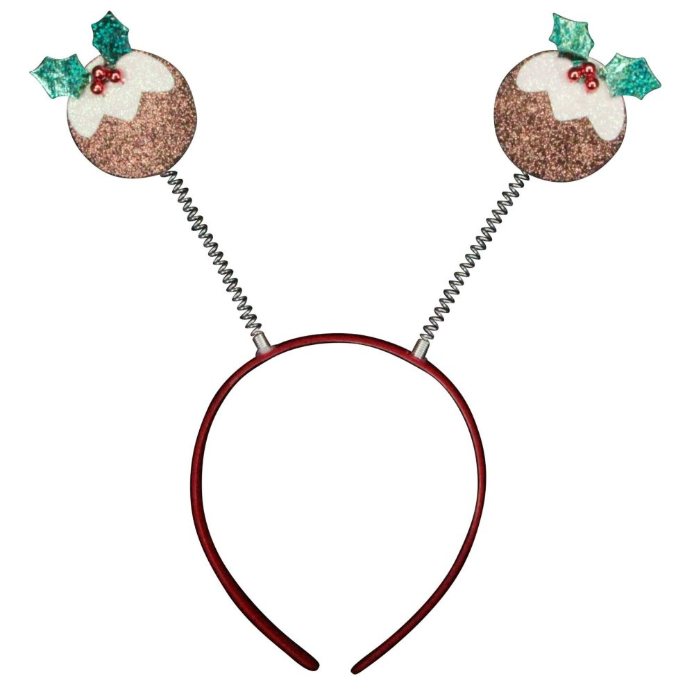 Fun Christmas Pudding Head Boppers