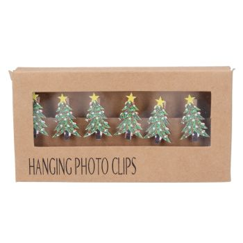 Christmas Tree Hanging Photo Clips