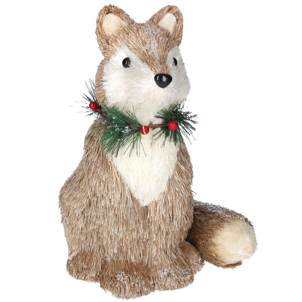 Rustic Bristle Fox - 30cm tall x 21cm wide x 23cm deep