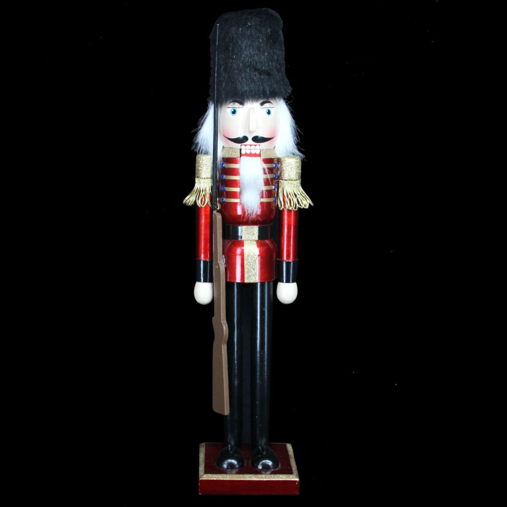 Gorgeous Large Nutcracker Soldier with Rifle - 62cm tall x 13cm x 13cm