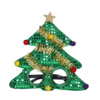 Fun Christmas Tree Spectacles - 28cm x 28cm