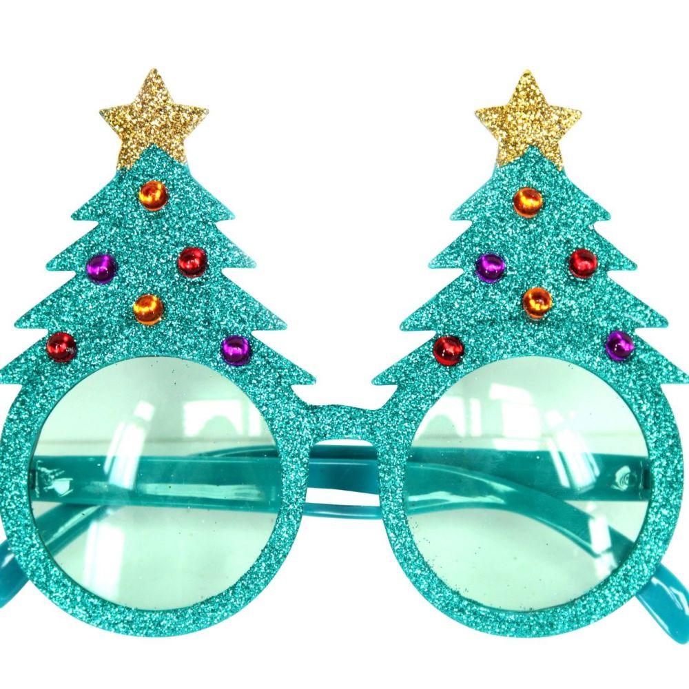 Great Fun Christmas Tree Glasses - 14cm x 12cm