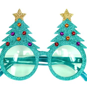 Great Fun Christmas Tree Glasses - 14cm x 12cm
