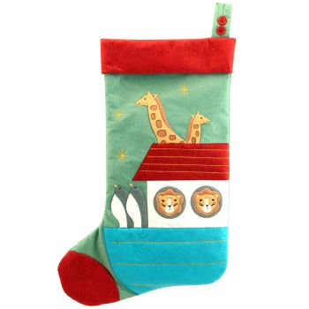 Large Christmas Noahs Ark Stocking - 56cm x 40cm