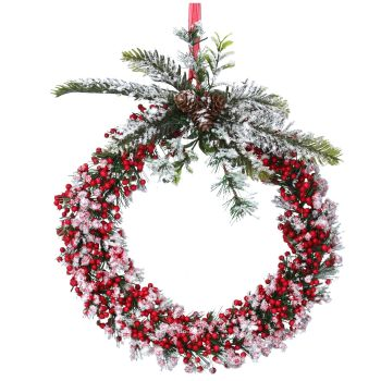 Gorgeous Small Door or Wall Berry Wreath - Approx. 26cm diameter