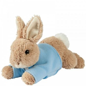 Small Lying Peter Rabbit Plush Toy - Height 12cm x 13cm long x 8cm wide