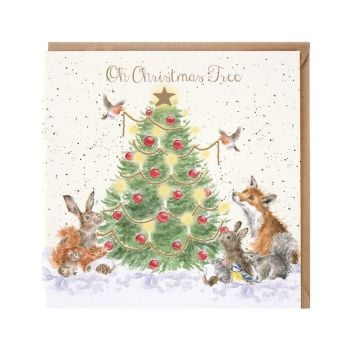 'Oh Christmas Tree' Christmas Card - 15cm x 15cm