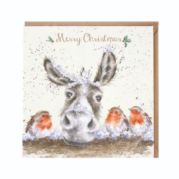 'The Christmas Donkey' Christmas Card - 15cm x 15cm