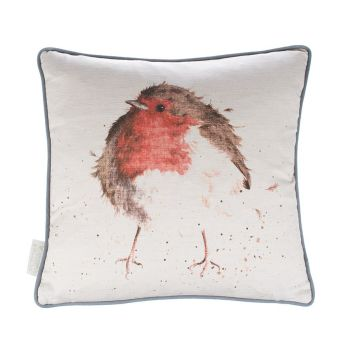 A beautiful Robin Christmas Cushion - 40cm x 40cm